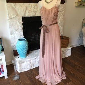 NWT WTOO BUFF COLORED EVENING GOWN DRESS SIZE 10